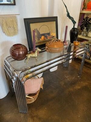 Art Deco Chrome Console Table
