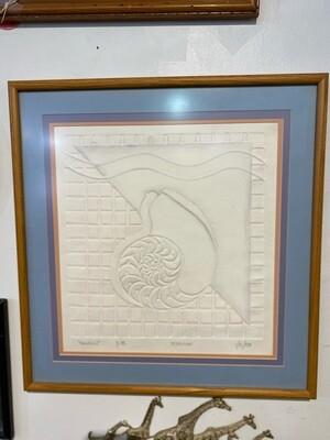 """Vintage 1980 """"Nautilus"""" Signed Art"""