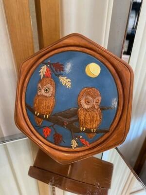 Vintage Ceramic Owl Trinket Box