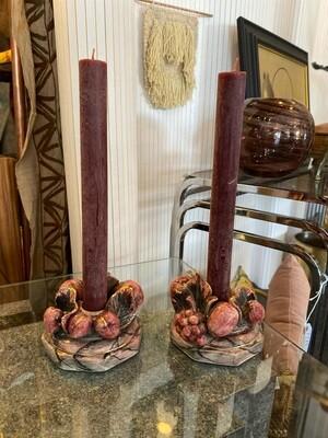 Vintage Pair of Candle Holders