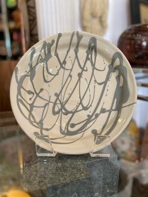 Vintage Signed Pottery Dish