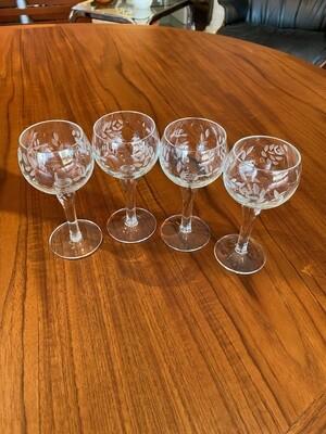 Vintage Set of Crystal Cordials
