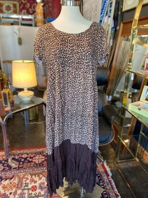 Modern Upcycled Leopard Dress