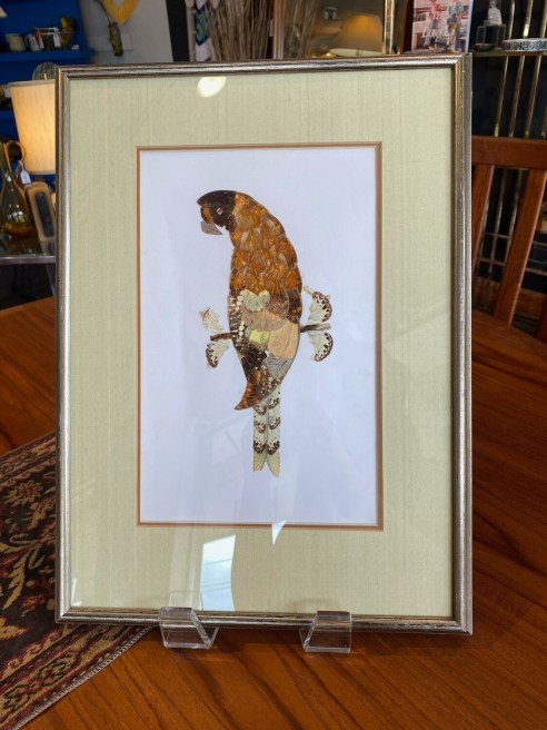 Vintage 1970's Butterfly Wing Art from Africa