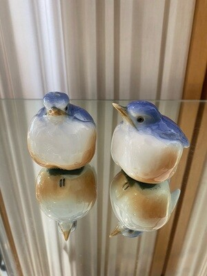 Vintage Blue Bird Salt & Pepper