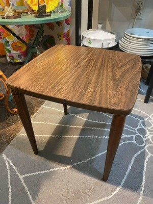 Mid Century Brown Formica Table