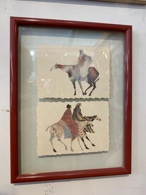 Vintage Framed Native American Art