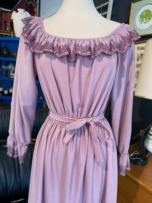 Vintage Lavender Belted Dress