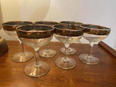 Vintage Gold Rim Couple Glasses