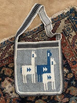 Peruvian Woven Bag with Llamas