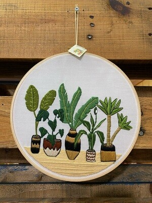 Modern Infinite Threads Embroidered Plants
