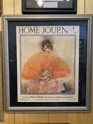 Vintage Framed November 1926 Home Journal Cover