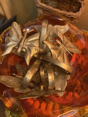 Vintage Brass Butterfly Napkin Holders