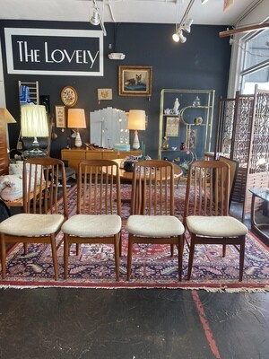 Mid Century Modern Danish Teak Benny Liden BL10 Dining Chairs