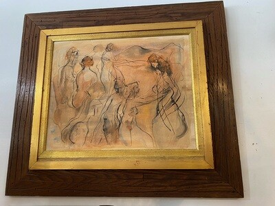 Mid Century Nude Dancer Abstract Wall Art