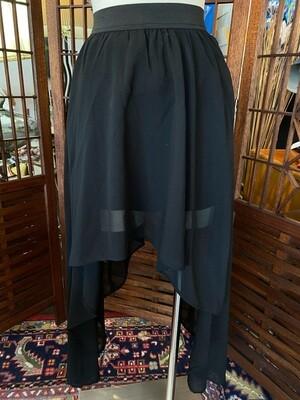 Modern Black Sheer Mini Skirt