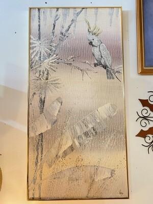 Mid Century Cockatoo Signed Wall Art