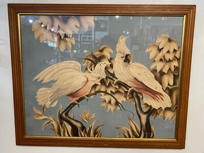 Mid Century Framed Turner Cockatiels Wall Art