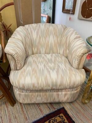 Vintage 1980's Pastel Swivel Chair