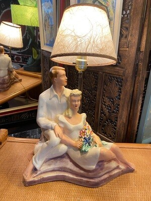 Vintage 1950's Table Lamp Lovers