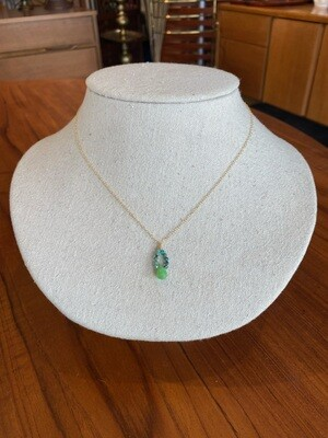 Handmade Gold Filled Chrysoprase Turquoise Necklace