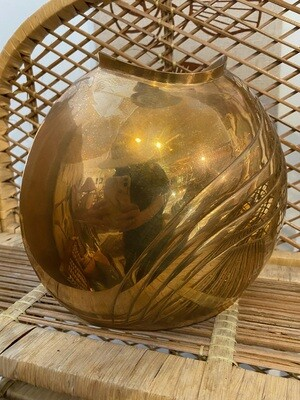 Vintage Brass Art Deco Vase