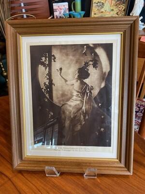 Vintage Framed Silent Film Star Norma Talmadge