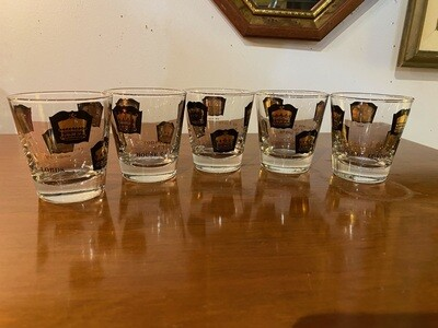 "Mid Century ""Royalty"" Whiskey Glasses"