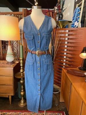 California Gold Rush Denim Dress with Belt