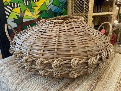 Vintage Sailors Knot Floor Basket