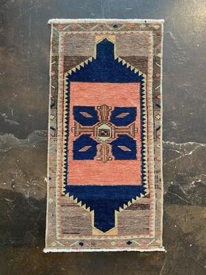 """Handmade Turkish Rug 17"""" x 35"""""""