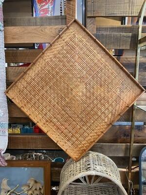 Vintage Boho Diamond Wall Basket