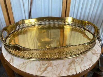 Vintage Brass Oval Tray