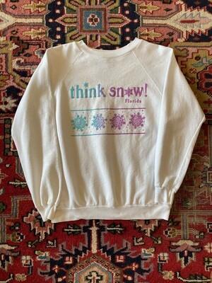 Vintage Think Snow Florida Sweatshirt
