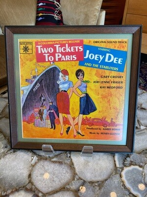 Vintage Framed & Matted Two Tickets To Paris