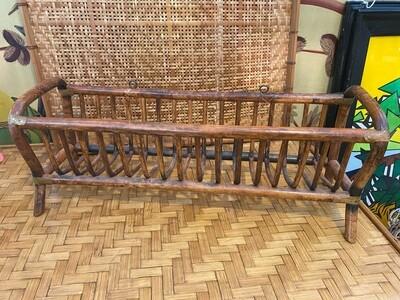 Vintage Rattan Wall or Standing Basket