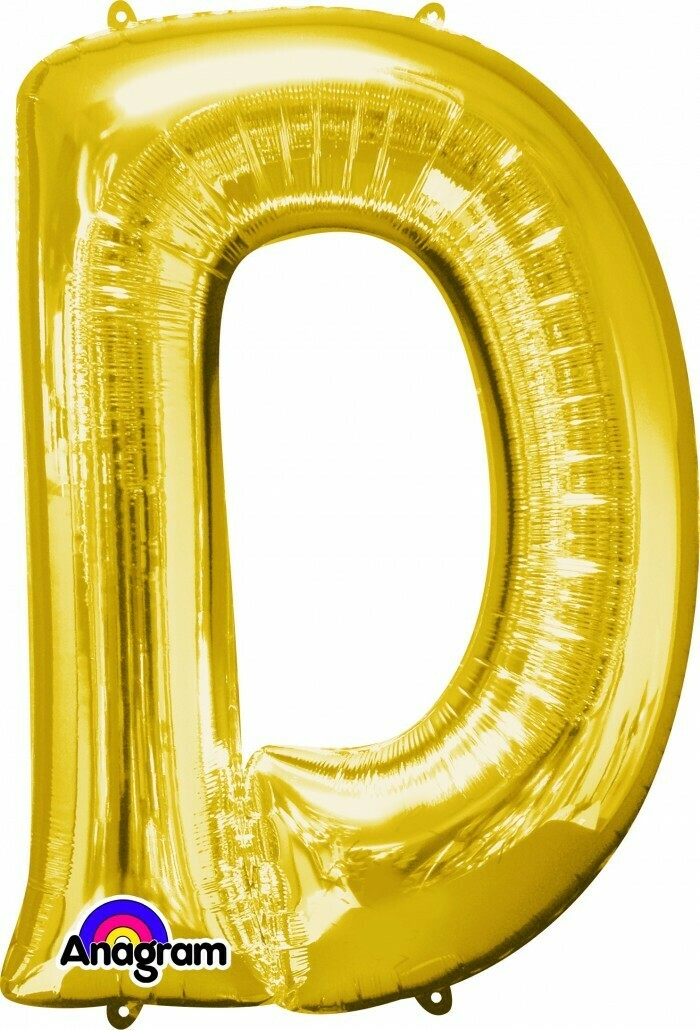 Super Shape Letter D Gold 34