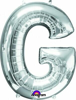Super Shape Letter G Silver 34