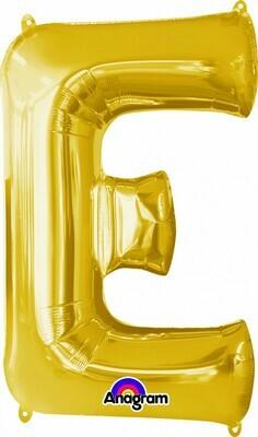 Super Shape Letter E Gold 34