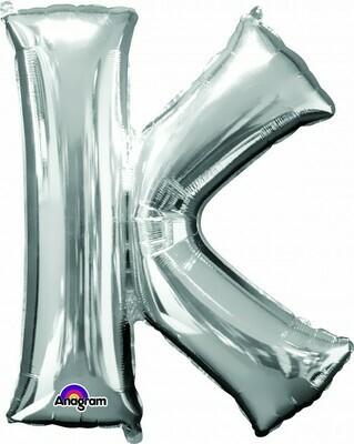 Super Shape Letter K Silver 34