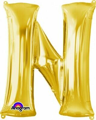 Super Shape Letter N Gold 34