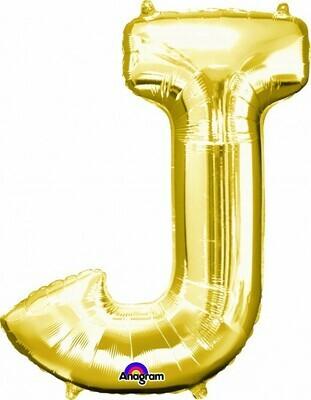 Super Shape Letter J Gold 34