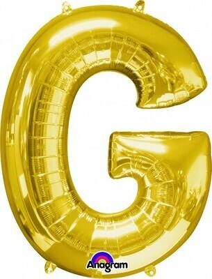 Super Shape Letter G Gold 34