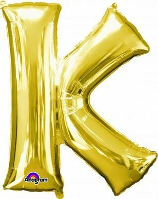 Super Shape Letter K Gold 34