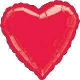 Heart Metallic Red 18