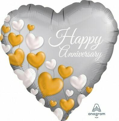 Anniversary Platinum Hearts