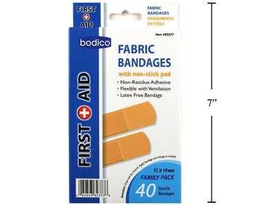 Bodico 40-pc Fabric Bandages- Standard Size