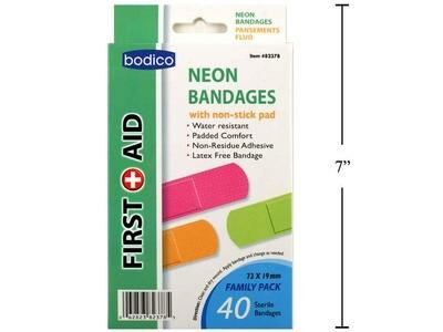 Bodico 40-pc Neon Bandages