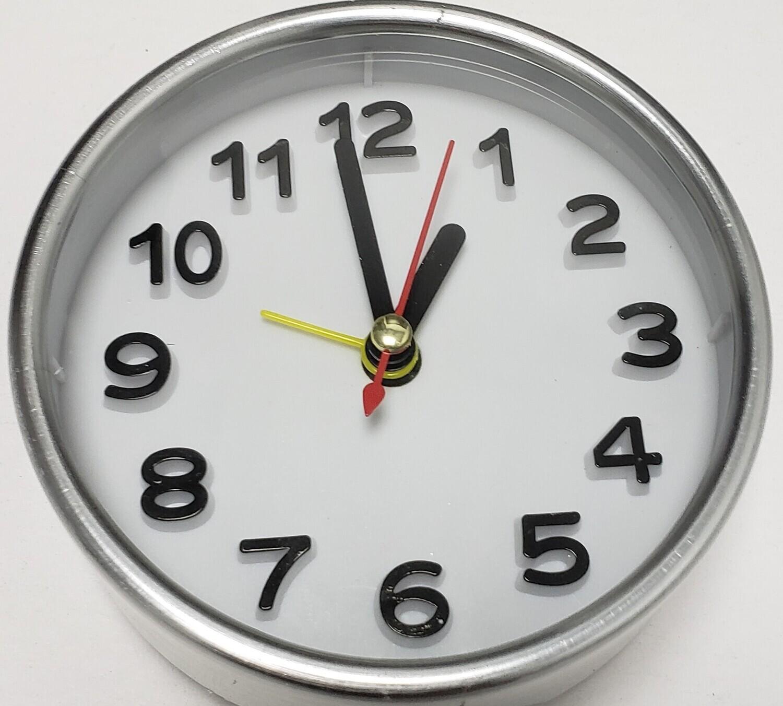 Silver Frame Alarm Clock