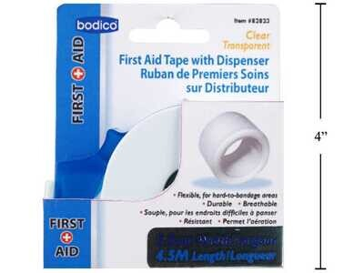 Bodico First Aid Tape With Dispenser-2.5cm Wide x 4.5m